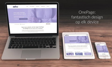 onepage, mobile, first, responsive, mobiel perspectief, tablet, desktop, devices,